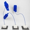 JaJaJa, Blue Flowers, 70 cm H